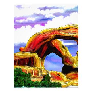 Double Arch Landscape Painting Letterhead