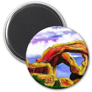 Double Arch Landscape Painting Magnet