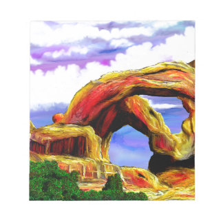 Double Arch Landscape Painting Notepad