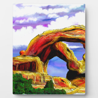 Double Arch Landscape Painting Plaque
