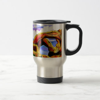 Double Arch Landscape Painting Travel Mug