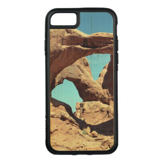 Double Arch Photo on Natural Wood Carved iPhone 8/7 Case