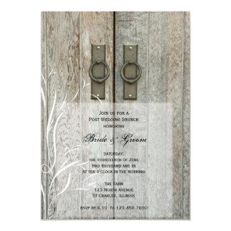 Double Barn Doors Country Post Wedding Brunch Card