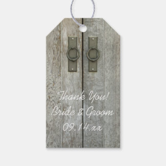 Double Barn Doors Country Wedding Favor Tags