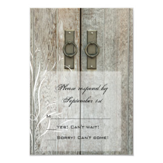 Double Barn Doors Country Wedding RSVP Response Card