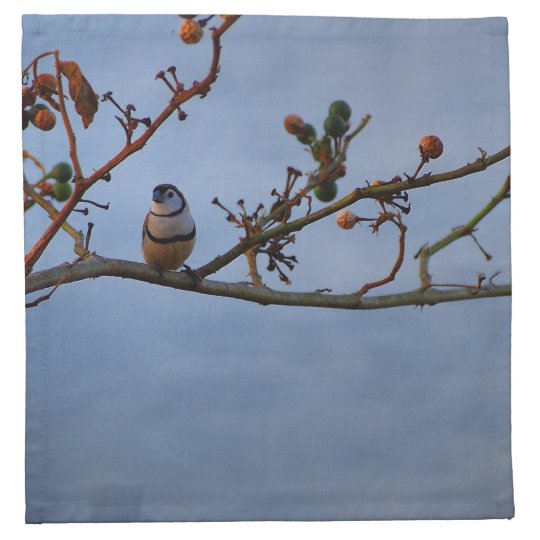 Double-barred finch napkin