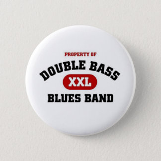 Double Bass Blues Band 2 Inch Round Button