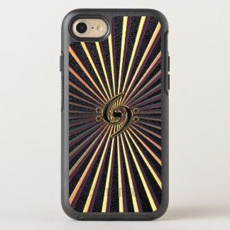 Double Bass Clef Spiral Metal Music iPhone 7 Case
