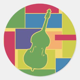 Double Bass Colorblocks Sticker