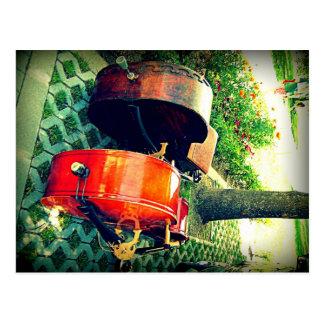 Double Bass Couple Postcard