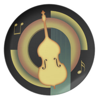 Double Bass Deco Plate