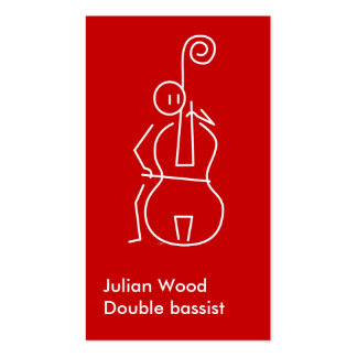 Double bassist Business card