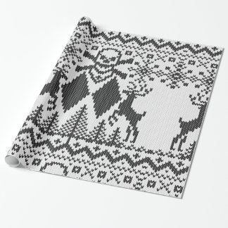 Double Black Diamond Crossbones Extreme Knit Wrapping Paper