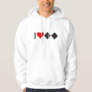 DOUBLE BLACK DIAMOND SKIER 'I HEART' HOODIE