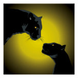 Double Black Panthers Poster