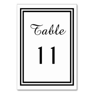 Double Black Trim - Table Number