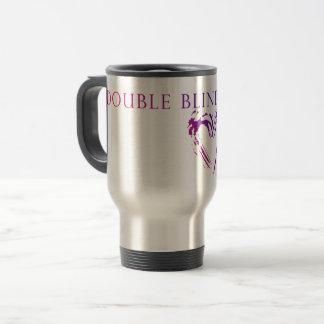Double Blind Study - pink/blue Travel Mug
