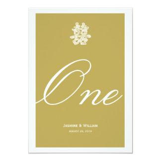 Double bonheur chinois épousant le nombre chic de carton d'invitation  12,7 cm x 17,78 cm