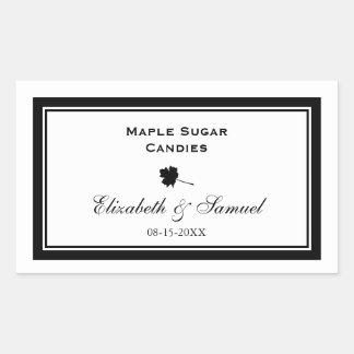 Double border maple leaf wedding reception candy