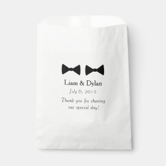 """Double Bow Tie"" Personalized Favour Bags"