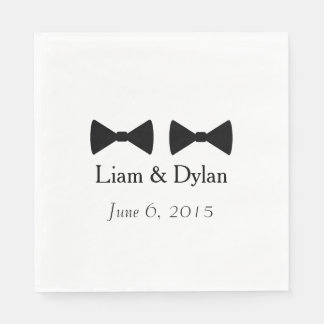 """Double Bow Ties"" Paper Napkins"