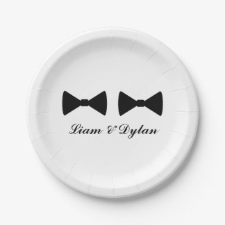 """Double Bow Ties"" Paper Plates"