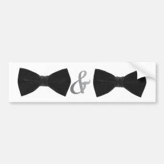 double bowties bumper sticker