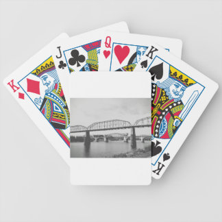 Double Bridge Black and White Photography Bicycle Playing Cards