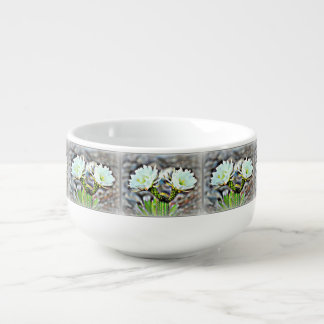 Double Cactus Blooms in Frost Soup Mug