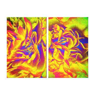 Double Canvas Print Set - Fiery Petals