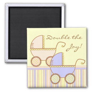 Double Carriage Twins Magnet
