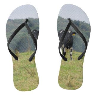 Double Cattle Troube Flip Flops