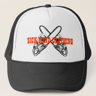 DOUBLE CHAINSAW LID TRUCKER HAT