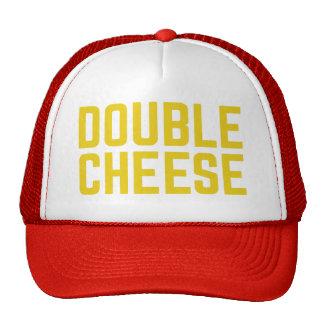 DOUBLE CHEESE fun slogan typographic trucker hat