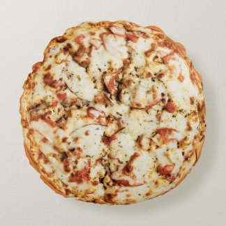 Double Cheese Pizza Round Pillow