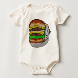 Double Cheeseburger Baby Bodysuit