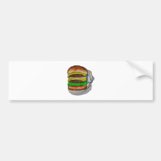 Double Cheeseburger Bumper Sticker