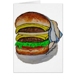 Double Cheeseburger Card