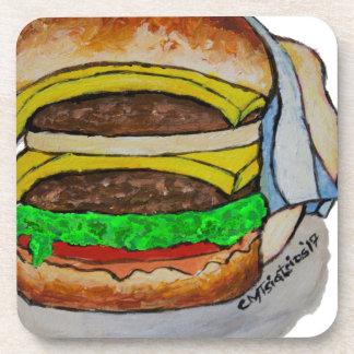 Double Cheeseburger Coasters