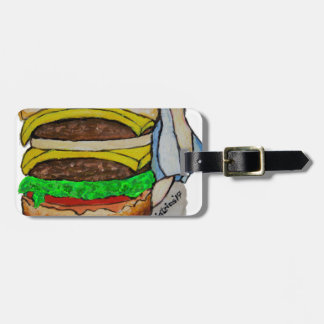 Double Cheeseburger Luggage Tag