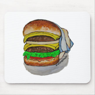 Double Cheeseburger Mouse Pad