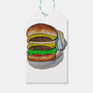 Double Cheeseburger Pack Of Gift Tags