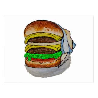 Double Cheeseburger Postcard