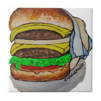 Double Cheeseburger Tile