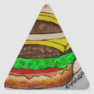 Double Cheeseburger Triangle Sticker