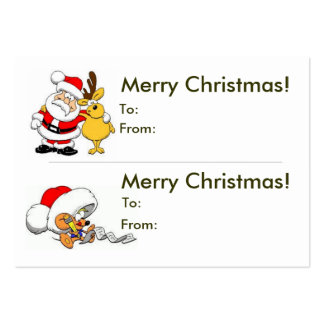 Double Christmas Gift Tag Large Business Card