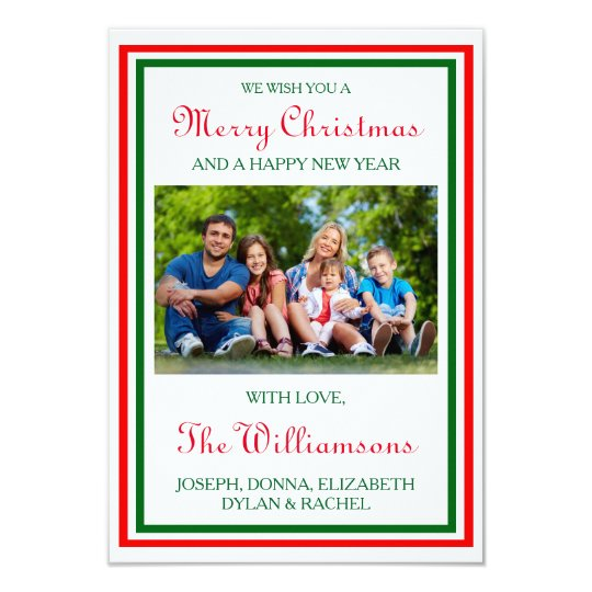 Double Christmas Trim Photo - 3x5 Christmas Card