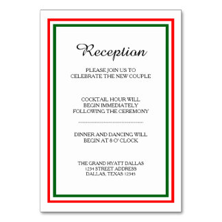 Double Christmas Trim -Reception Insert Card
