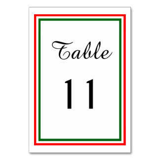 Double Christmas Trim - Table Card