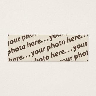 Double citation faite sur commande du signet mini carte de visite